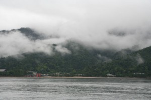 Miyajima in the clouds